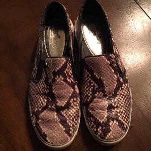 Michael Kors snakeskin slip on sneakers
